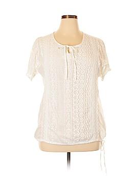 S.R. Fashion Short Sleeve Blouse Size L