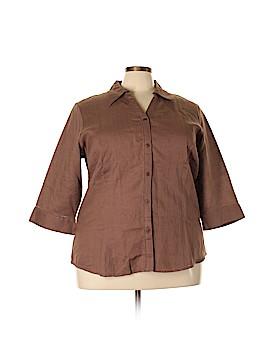 Bridgewater Studio Short Sleeve Button-Down Shirt Size 24w (Plus)