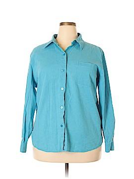 Liz Baker Long Sleeve Button-Down Shirt Size 2X (Plus)