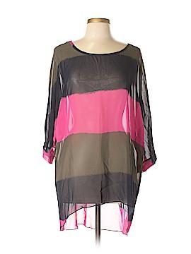 Allegra K 3/4 Sleeve Blouse Size L