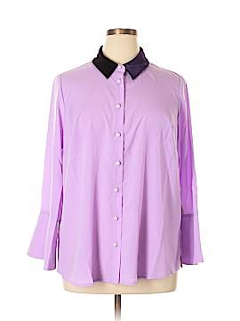 ELOQUII Long Sleeve Blouse Size 16 (Plus)