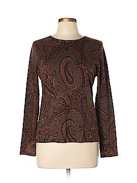 Jones New York Signature Silk Pullover Sweater Size L (Petite)