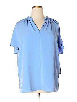 RACHEL Rachel Roy Short Sleeve Blouse Size 0X (Plus)