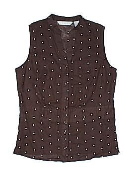 Tweeds Sleeveless Button-Down Shirt Size M