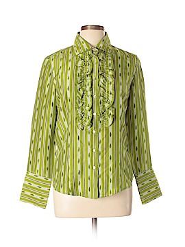 Robert Graham Long Sleeve Silk Top Size L