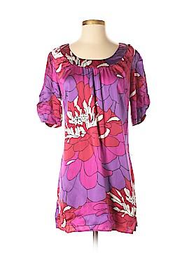Sunny Leigh Short Sleeve Silk Top Size M