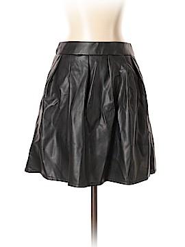 Blue Rain Faux Leather Skirt Size S