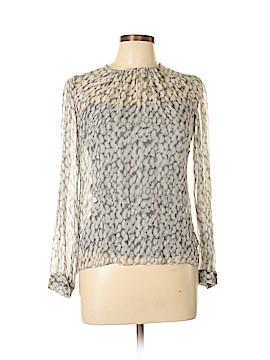 Worth New York Long Sleeve Silk Top Size 6