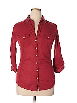 Max Studio 3/4 Sleeve Button-Down Shirt Size XL
