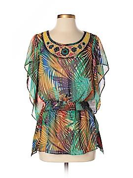 Ellen Tracy Short Sleeve Blouse Size XS
