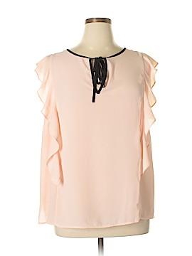 ELOQUII Short Sleeve Blouse Size 14 (Plus)