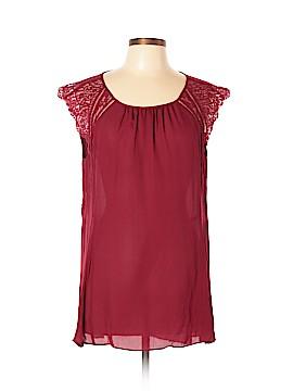 White House Black Market Short Sleeve Silk Top Size XL