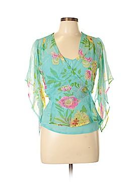 Richard Malcom 3/4 Sleeve Silk Top Size S