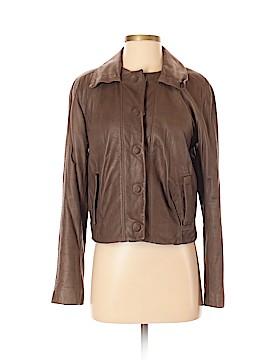 Elie Tahari Leather Jacket Size 0
