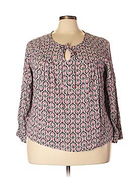 Kenar Long Sleeve Blouse Size 3X (Plus)