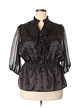 Caren Sport 3/4 Sleeve Blouse Size 2X (Plus)