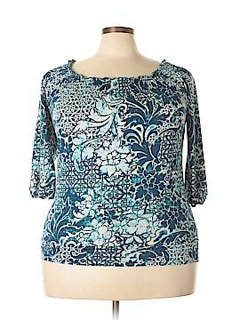 Claudia Richard 3/4 Sleeve Top Size 1X (Plus)