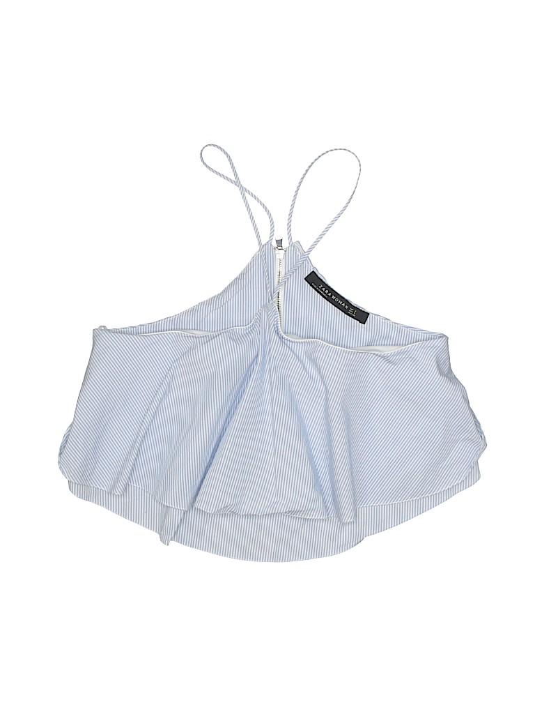 93c68d8186b Zara Stripes Light Blue Sleeveless Blouse Size S - 55% off | thredUP