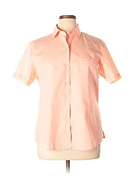 Foxcroft Short Sleeve Button-Down Shirt Size 16