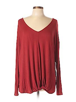 Bordeaux Long Sleeve Blouse Size L