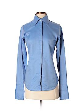 Pink Tartan Long Sleeve Button-Down Shirt Size 0