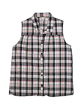 White Stag Sleeveless Button-Down Shirt Size XL