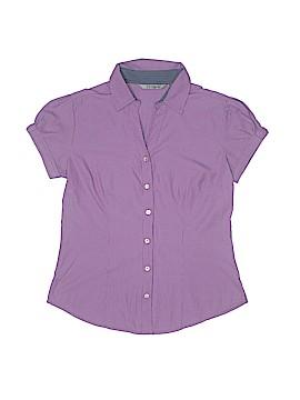 Annabelle Short Sleeve Button-Down Shirt Size M