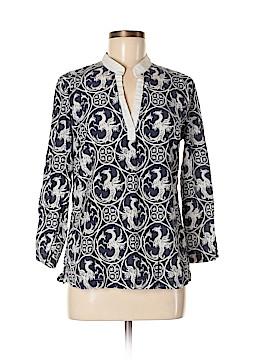 J. McLaughlin 3/4 Sleeve Silk Top Size 6