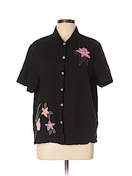 Lemon Grass Short Sleeve Button-Down Shirt Size XL