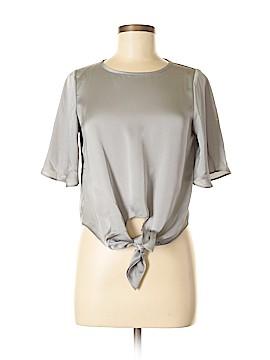 Line & Dot Short Sleeve Blouse Size XS