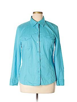 Evan Picone Long Sleeve Button-Down Shirt Size XL