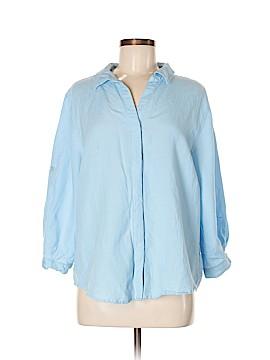 Joan Vass Long Sleeve Button-Down Shirt Size XL