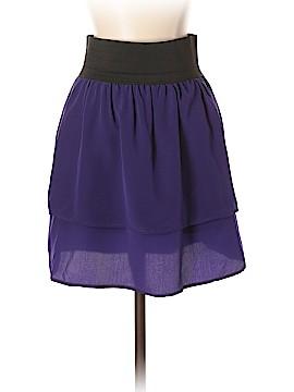Aqua Silk Skirt Size S