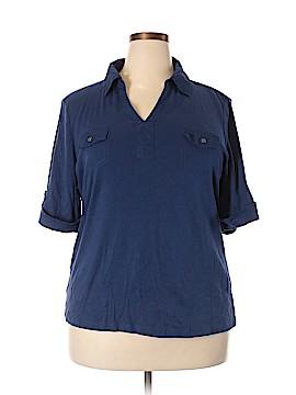 Karen Scott Short Sleeve Polo Size 2X (Plus)
