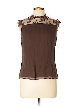 WD.NY Short Sleeve Silk Top Size 8