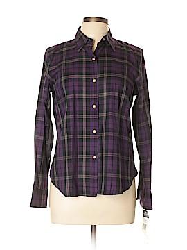 Chaps Long Sleeve Button-Down Shirt Size L (Petite)