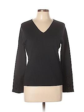 Petite Sophisticate Silk Pullover Sweater Size L