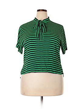 7th Avenue Design Studio New York & Company Short Sleeve Blouse Size XL (Petite)