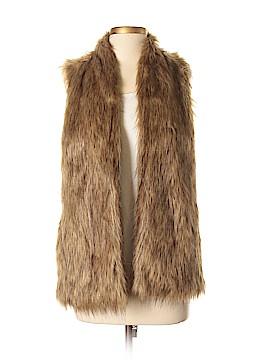 Hinge Faux Fur Vest Size S