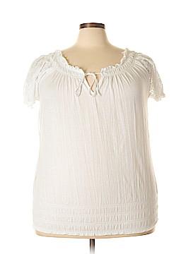 Allison Brittney Short Sleeve Top Size 1X (Plus)