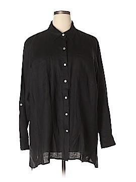 New York & Company Long Sleeve Button-Down Shirt Size 3X (Plus)
