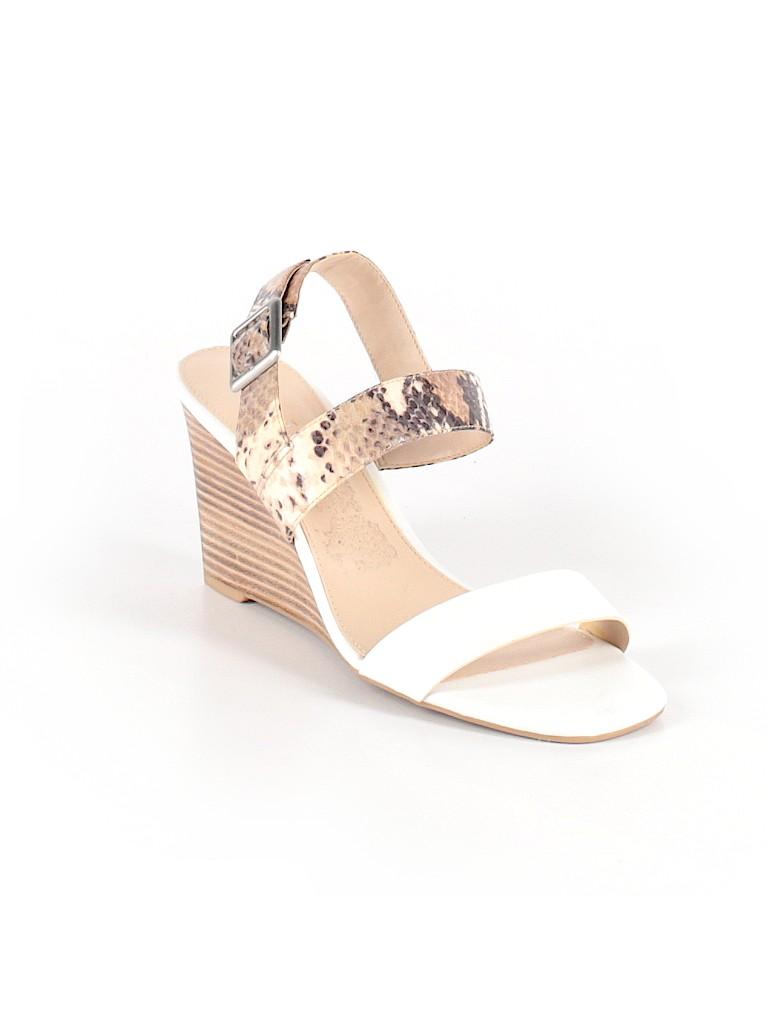 59f33338b9d0 Franco Sarto Animal Print White Wedges Size 10 - 95% off | thredUP