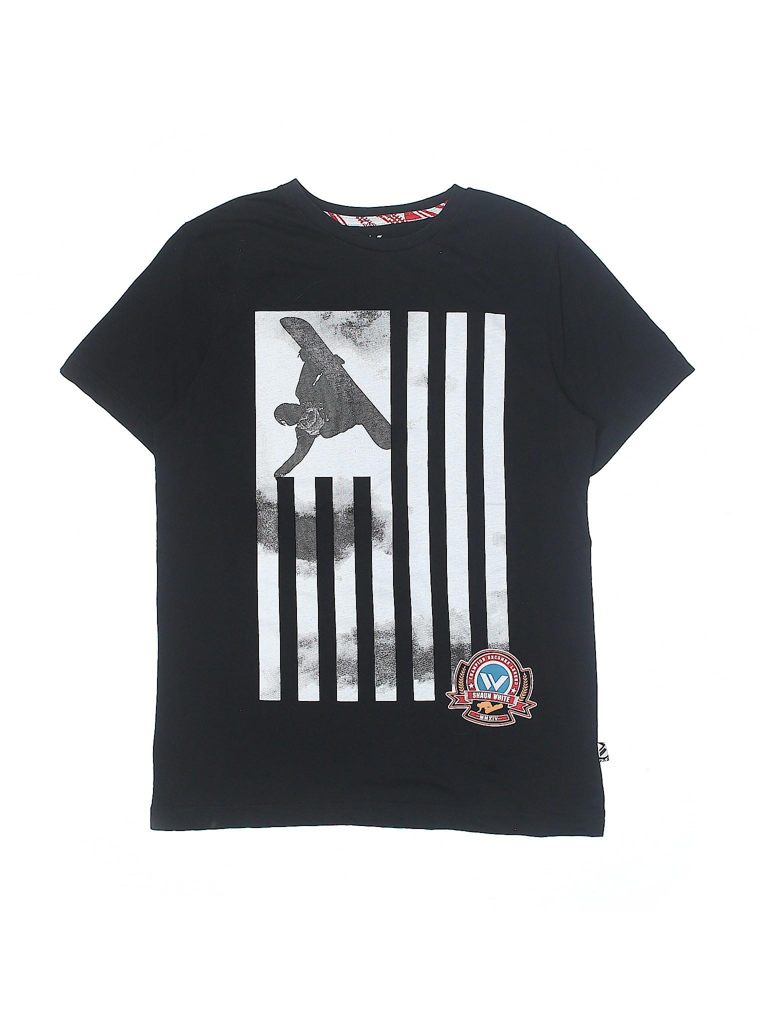 Shaun White Graphic Black Short Sleeve T Shirt Size X Large Youth