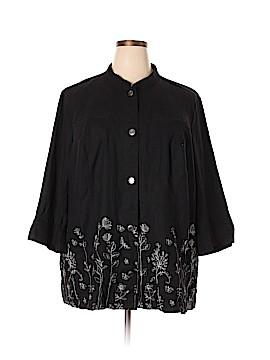 Christopher & Banks 3/4 Sleeve Button-Down Shirt Size 3X (Plus)
