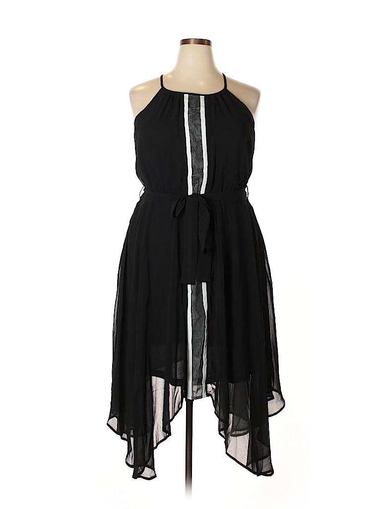 City Chic Women Casual Dress Size 12 Plus (XS) (Plus)