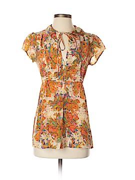 Petticoat Alley Short Sleeve Silk Top Size XS