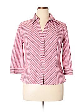 Apostrophe Long Sleeve Button-Down Shirt Size 16