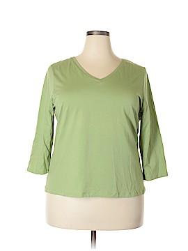 Jillian Jones 3/4 Sleeve Top Size 1X (Plus)