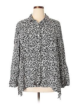 Jones New York Sport Long Sleeve Button-Down Shirt Size 3X (Plus)