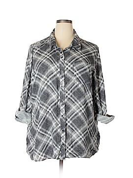 CB Long Sleeve Button-Down Shirt Size 3X (Plus)